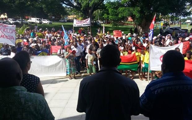 Vanuatu's Free West Papua Association marched on the Melanesian Spearhead Group secretariat in Port Vila.