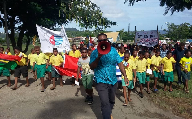 A march organised by Vanuatu's Free West Papua Association calling on the Melanesian Spearhead Group to give full membership to the United Liberation Movement for West Papua.