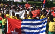 Ni-Vanuatu march in support of West Papuan self-determination aspirations.