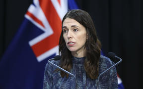 Prime Minister Jacinda Ardern speaks to media during a press conference at Parliament on April 19, 2020 in Wellington, New Zealand.