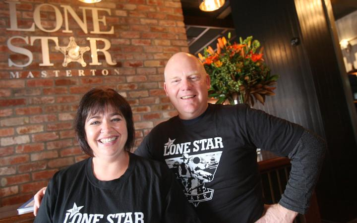 Lone Star Masterton co-owner Tom Roseingrave, right, with Michelle Roseingrave, his wife and business partner