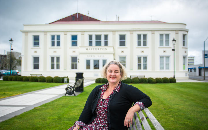 Masterton District Council chief executive Kath Ross, pictured in front of Masterton Town Hall (file photo)
