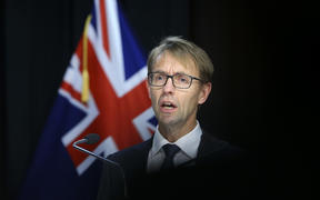 Director-General of Health Dr Ashley Bloomfield speaks to media during a press conference at Parliament on 21 April 2020 in Wellington, New Zealand.