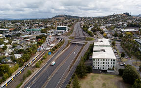 A central hub in Ellerslie overlooking the Southern motorway back into the city.