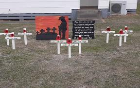 Trudie Mulligan's Anzac display.