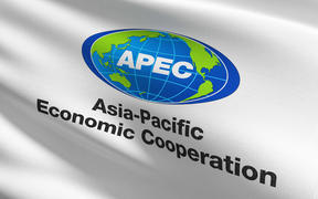 The flag of Asia Pacific Economic Cooperation or APEC.