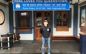 Fergburger group general manager Stephen Bradley outside its Shotover Street store in Queenstown.