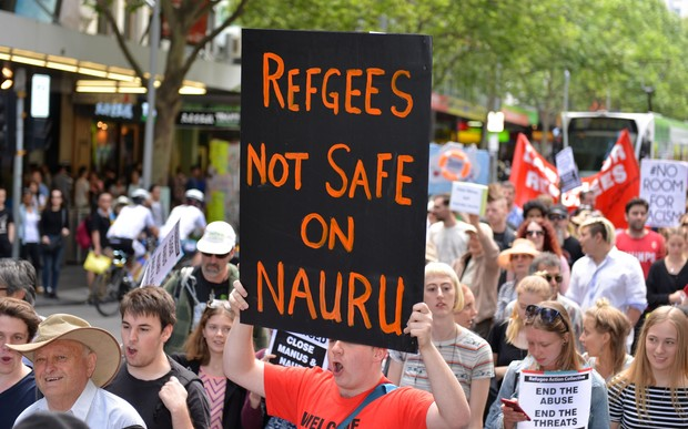 Australians protest against the Nauru detention centre