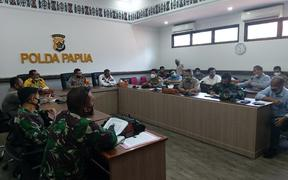 Meeting at Papua Police Headquarters in Jayapura on 30 April.