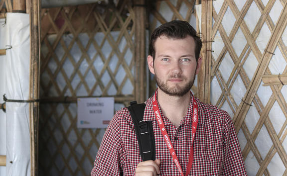 Carl Adams at Bangladesh's Cox's Bazaar refugee camp