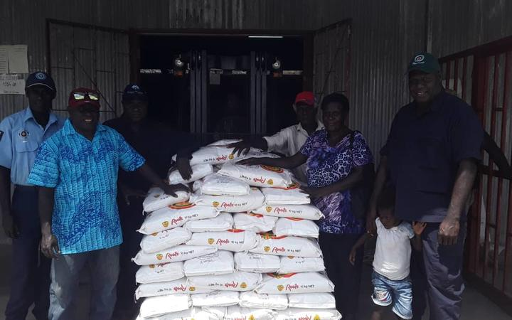 Rice and other supplies sent out to flood victims in South Bougainville