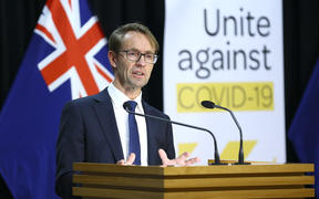 Director-General of Health Dr Ashley Bloomfield speaks to media during a press conference at Parliament on May 04, 2020 in Wellington, New Zealand.