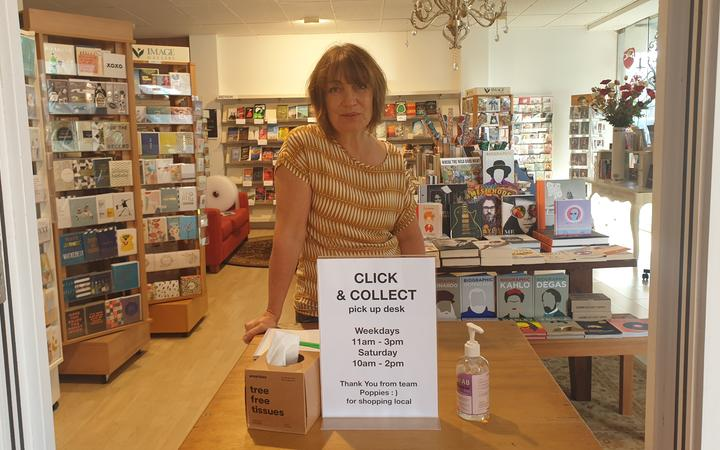 Poppies Bookshop manager Ruth Bruhin.