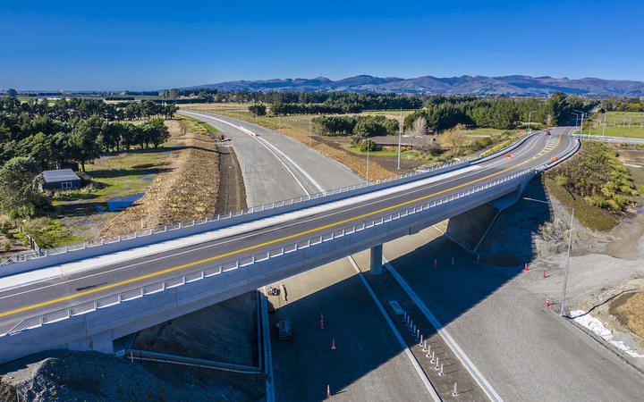 Once open, the Christchurch southern motorway will halve the time it will take to get from the CBD to Rolleston to about 15 minutes.