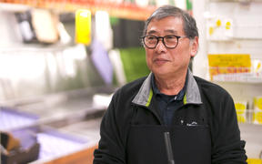 Jack Lum, a longstanding fruit and vegetable store owner in Remuera.