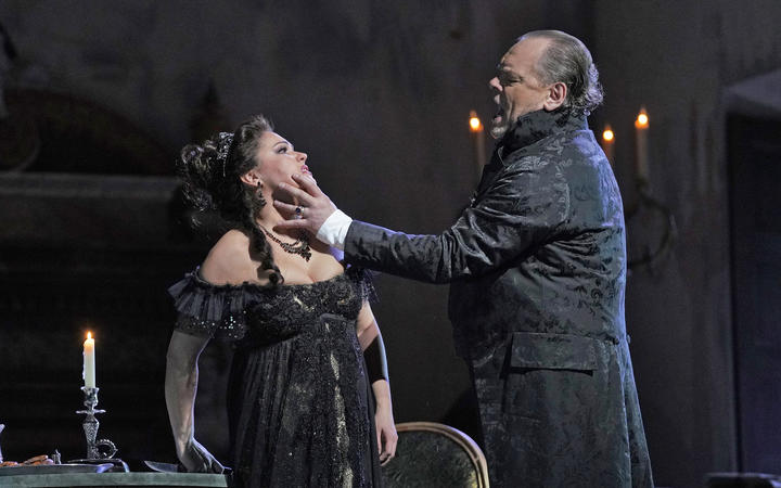 A scene from Tosca at The Met
