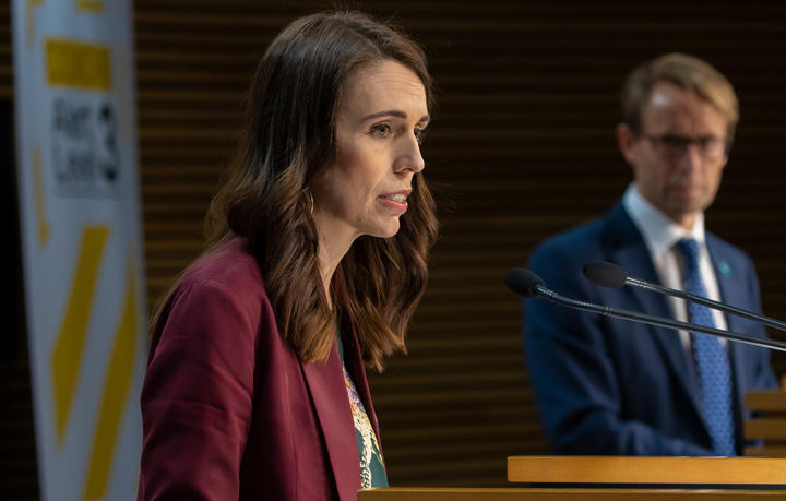 Prime Minister Jacinda Ardern and Director-General of Health Dr Ashley Bloomfield talk to media during a Covid-19 coronavirus briefing on 6 May, 2020.