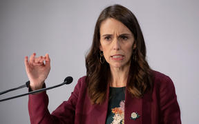 Prime Minister Jacinda Ardern talks to media during a Covid-19 coronavirus briefing on 6 May, 2020.