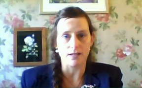 Rebekah Burgess talked to members of the Epidemic Response Committee via livestream on 6 May, 2020.