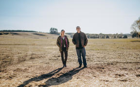 Hawke's Bay farming father and daughter duo, Rhea Dasent and Jeremy Dasent.