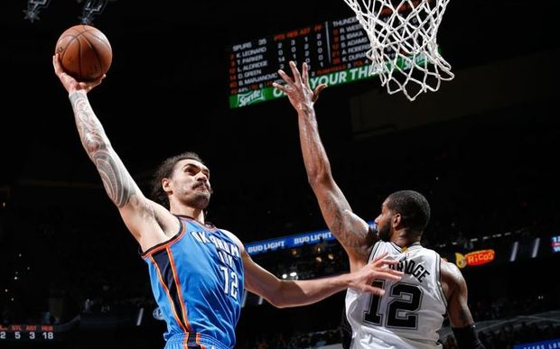 Steven Adams was on form as OKC enjoyed a one point win over the Spurs.