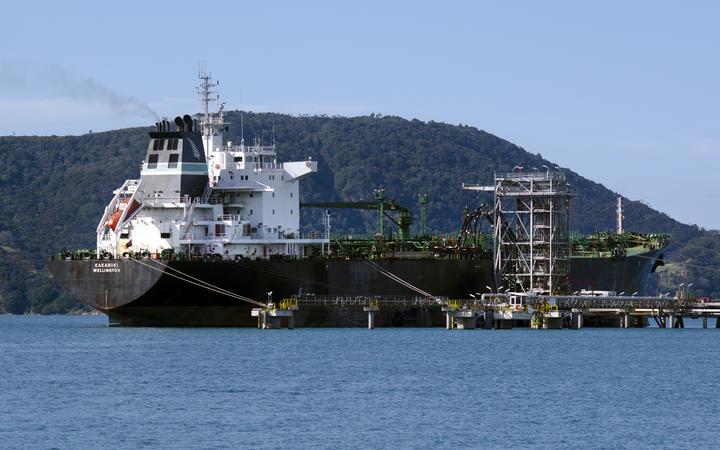 Tanker unloading at Marsden Point Oil Refinery in 2013.