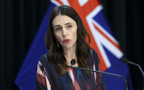 Prime Minister Jacinda Ardern speaks to media during a Covid-19 update conference at Parliament on May 12, 2020 in Wellington, New Zealand.