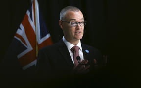 Minister of Health Dr David Clark speaks to media during a pre-budget health announcement at Parliament
