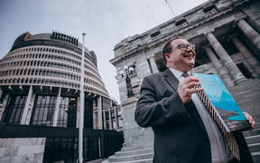 Grant Robertson holding Budget 2020 ahead of its release.