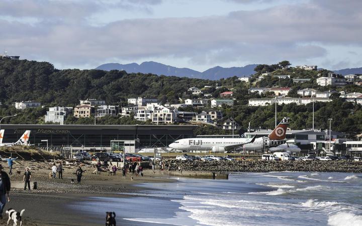 Wellington Airport - Fiji Airways plane