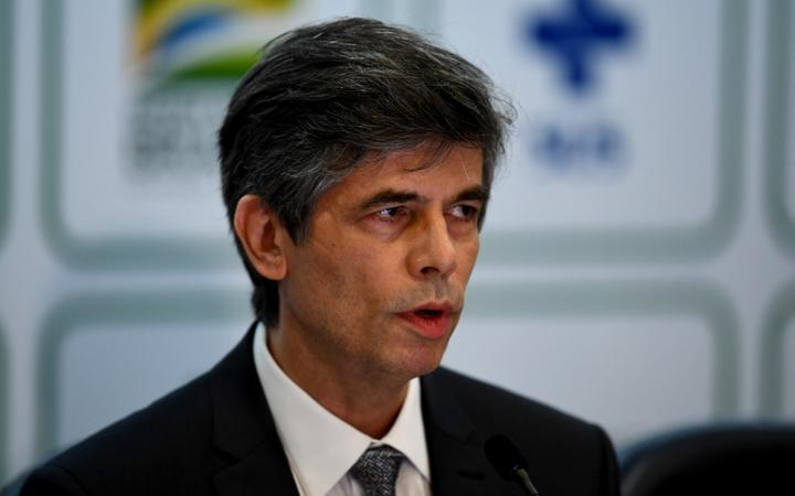 Brazil's outgoing Health Minister Nelson Teich speaks during a press conference at Planalto Palace in Brasilia, on May 15, 2020.