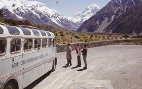Mt Cook line bus at The Hermitage c. 1960
