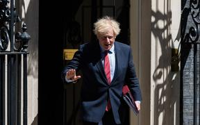 British Prime Minister Boris Johnson leaves 10 Downing Street for PMQs at the House of Commons on 20 May, 2020 in London, England. o)