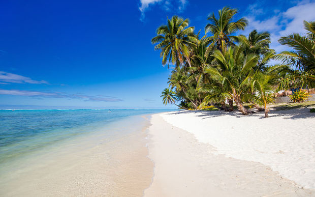 A beautiful beach in the Cook Islands.