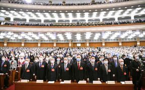 The third session of the 13th National People's Congress (NPC) opens at the Great Hall of the People in Beijing, capital of China, May 22, 2020.