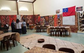 Mangere College hall decorated for Samoan Language Week.