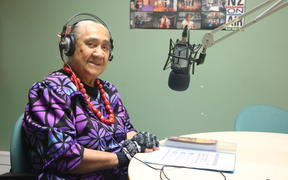 Fereni Ete hosting the Ina'ilau a Tinā programme at Samoa Capital Radio