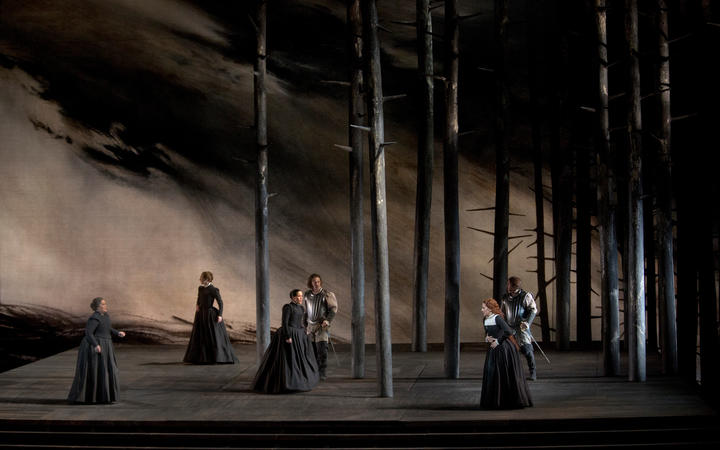 A scene from Maria Stuarda at The Met