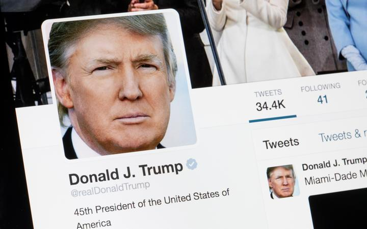 US President Donald Trump's twitter page.