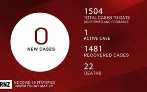 Covid-19 cases in NZ on 29 May.