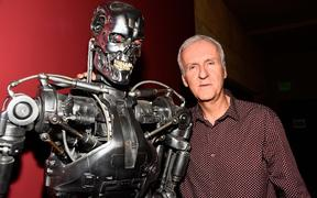 "HOLLYWOOD, CA - OCTOBER 15: Director James Cameron attends the American Cinematheque 30th Anniversary Screening Of ""The Terminator"" Q+A at the Egyptian Theatre on October 15, 2014 in Hollywood, California."