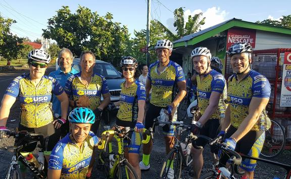 The group of cyclists called USO use their bikes to deliver health messages to Pacific and Maori communities in New Zealand