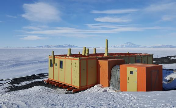 Hillary Hut was the first building erected at Pram Point in what would become the New Zealand Antarctic station of Scott Base. The hut is named in honour of Sir Edmund Hillary and was a kitset erected in 1957. It was recently repainted in its original colours of yellow and orange.