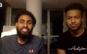 Salman Elmi and Abdi Hassan from Top Figure, a marketing business in Minneapolis.
