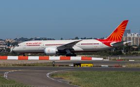 Sydney, Australia - February 12, 2019: Air India Boeing 787 Dreamliner taxiing at Kingsford Smith Sydney International Airport. Registration: VT-NAC