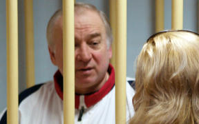 Former Russian military intelligence colonel Sergei Skripal at the Moscow District Military Court in Moscow in 2006.