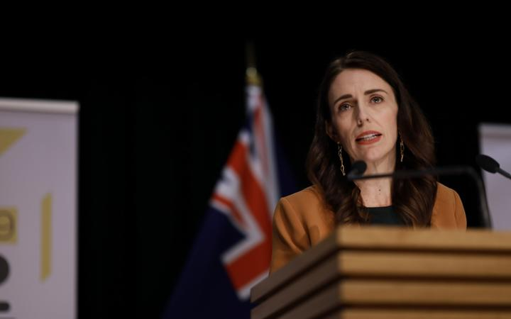 Prime Minister Jacinda Ardern announcing the move to Covid-19 alert level 1 on 8 June, 2020.