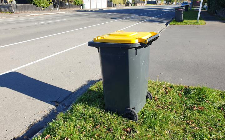 Christchurch recycling bins.