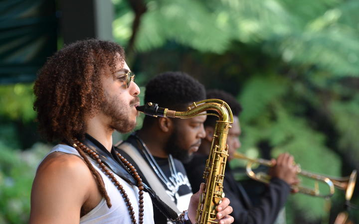 Ezra Collective performing at WOMAD 2020