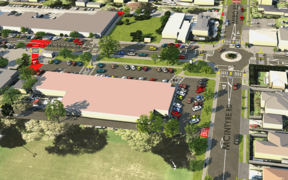 An artist's impression of improvements to Māngere Bridge village.